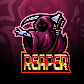 Disegno della mascotte del logo di reaper esport