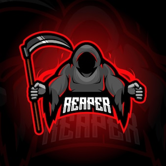 Disegno del logo mascotte reaper