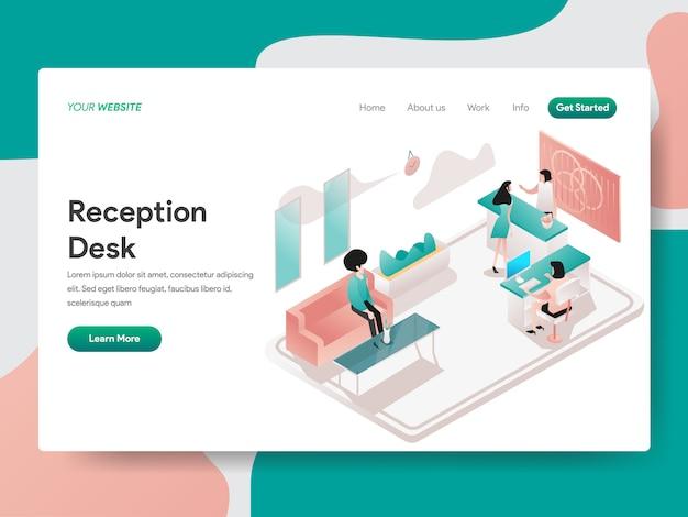 Reception per pagina web
