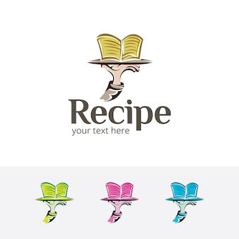 Modello di logo di vettore di ricetta