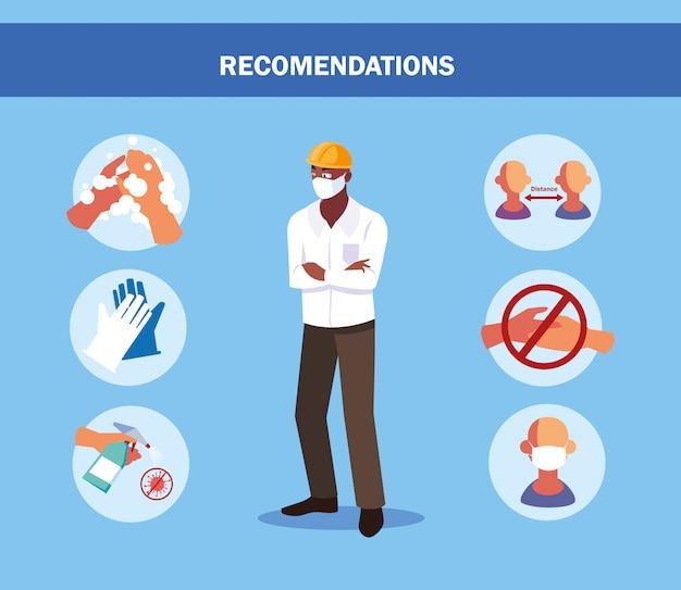 Raccomandazioni per prevenire covid in un operatore del settore