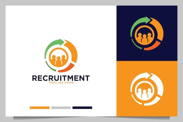 Società di reclutamento con design del logo a freccia