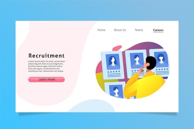 Pagina di destinazione del reclutamento