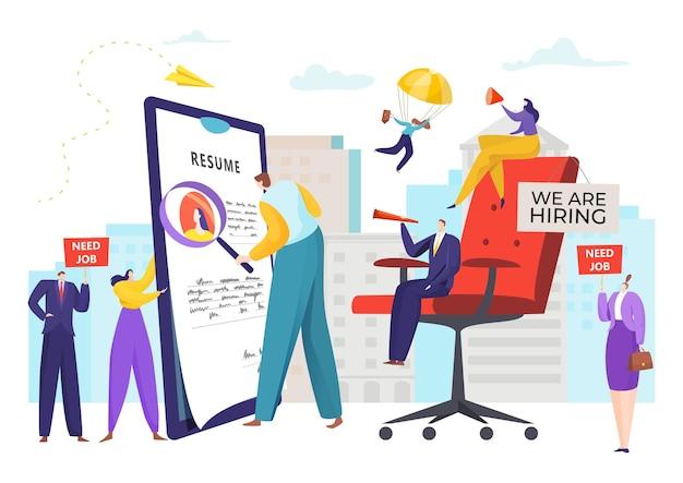 Responsabile del reclutamento hr ricerca di un candidato a un posto vacante