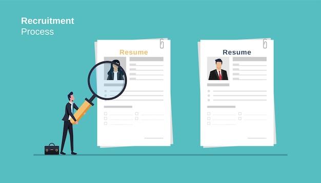 Processo di reclutamento della gestione delle risorse umane, ricerca di personale professionale
