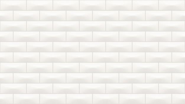 Modello senza cuciture di colore bianco delle piastrelle di ceramica rettangolari