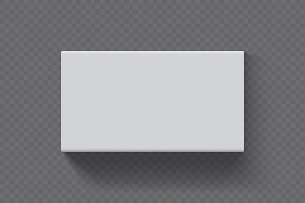 Scatola rettangolare su sfondo trasparente