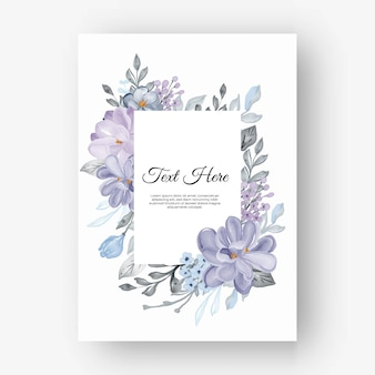 Cornice floreale rettangolare con fiori lilla
