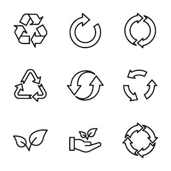 Riciclo ed ecologia pack di linea