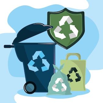 Contenitori per il riciclaggio ecologici