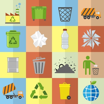 Collezione di icone di riciclaggio