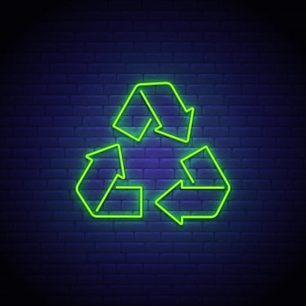 Riciclaggio dell'insegna al neon