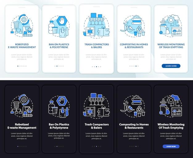 Tendenze di riciclaggio nella schermata della pagina dell'app mobile a bordo
