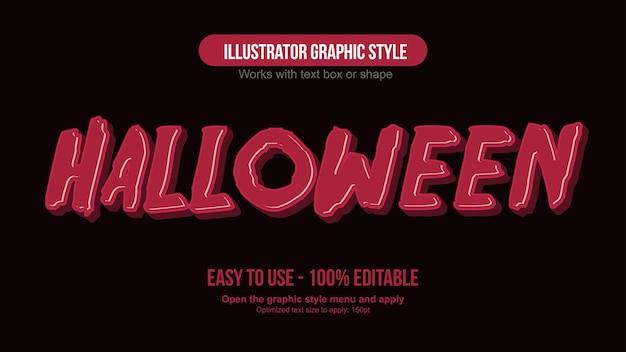 Tipografia di halloween gocciolante 3d rosso