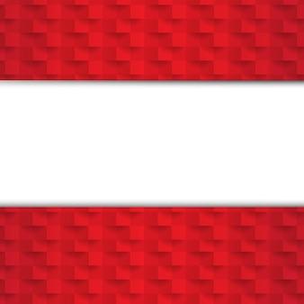 Sfondo rosso astratto con texture di carta con gradiente maglie