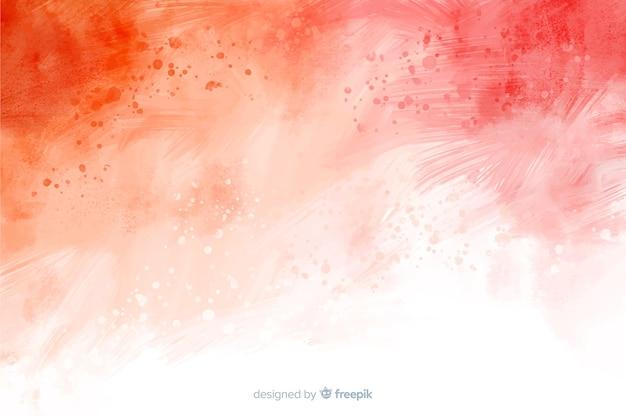 Fondo dipinto a mano astratto rosso