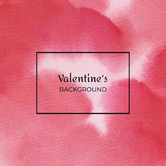 Struttura dell'acquerello di san valentino astratto rosso