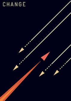 L'aereo rosso cambia direzione e quelli bianchi.