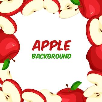 Cornice di mela rossa
