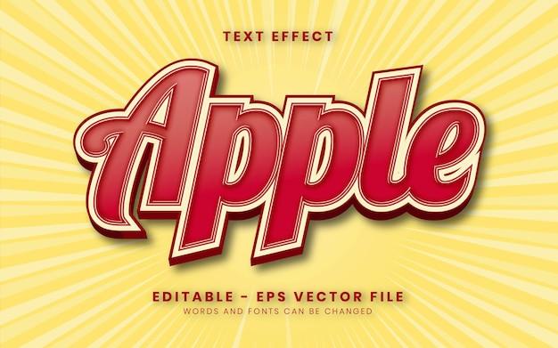 Effetto testo mela rossa