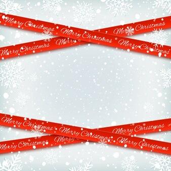 Bandiere rosse su sfondo invernale con la neve