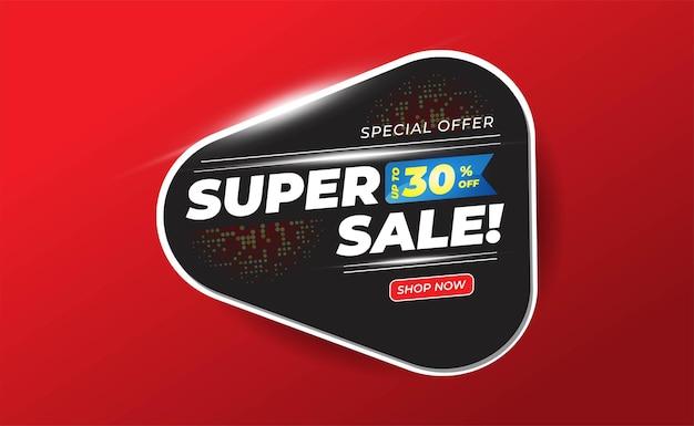Banner rosso grande vendita Vettore Premium