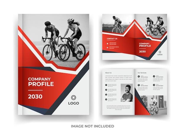 Red and black 04 page business brochure design e report annuale e modello di rivista