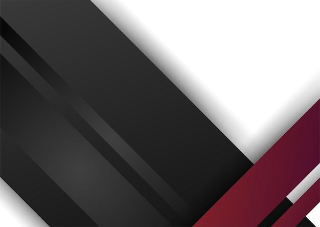 Forme geometriche astratte nere rosse su sfondo bianco. adatto per sfondo di presentazione, banner, pagina di destinazione web, interfaccia utente, app mobile, design editoriale, volantino, banner e altre occasioni correlate