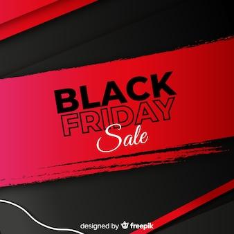 Sfondo rosso e nero per la vendita venerdì nero Vettore Premium