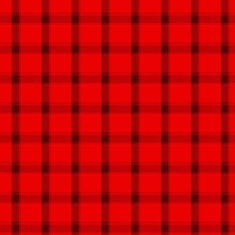 Motivo scozzese rosso e nero a quadretti senza cuciture
