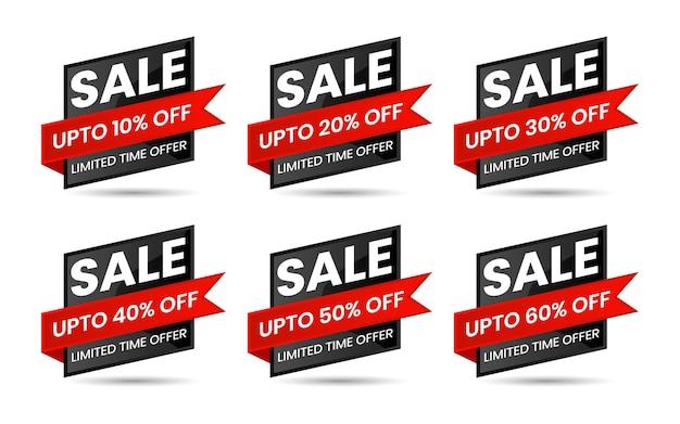 Offerta speciale di vendita rossa e nera e cartellini dei prezzi
