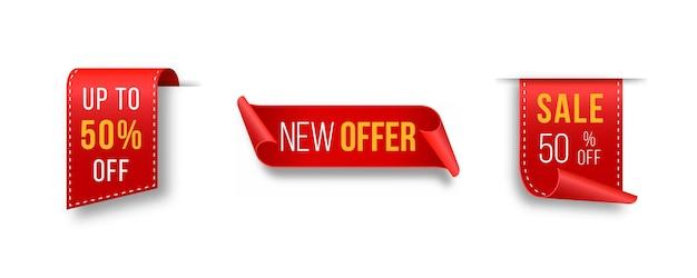 Etichetta prezzo vuoto rosso 3d arruffato icona con ombra trasparente