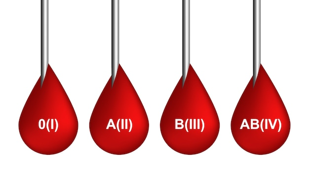 Icone rosse delle gocce di sangue o raccolta di simboli di sanguinamento isolata su fondo bianco. illustrazione realistica 3d di gocciolamento scarlatto, gocciolamenti o goccioline