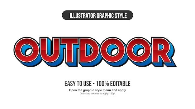 Tipografia futuristica sportiva 3d rossa e blu