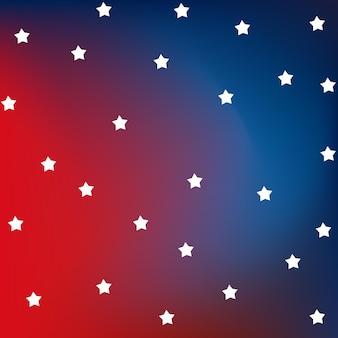 Bandiera rossa e blu con stelle. bandiera americana.