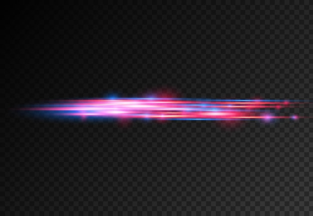 Raggi laser ad effetto speciale blu rosso raggi di luce orizzontali movimento magico di linee veloci in movimento