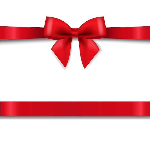 Fiocco rosso isolato sfondo bianco con gradiente maglie