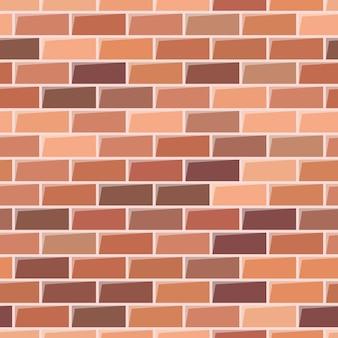 Struttura del muro di mattoni rossi. sfondo senza soluzione di continuità. illustrazione vettoriale