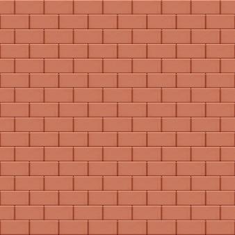 Struttura senza giunte del muro di mattoni marrone rosso.