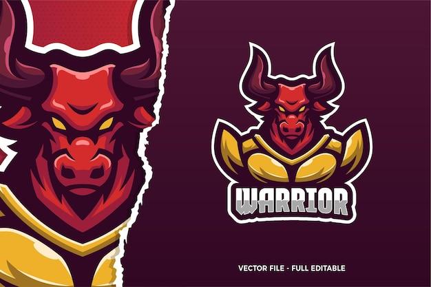 Modello di logo del gioco red bull e-sport