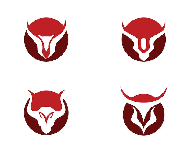 Red bull taurus logo template icona vettore illustrazione