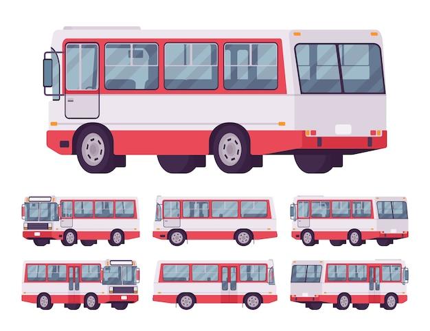 Accumulazione del bus rosso isolata su bianco