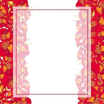 Bordo rosso della carta dell'insegna del giglio di canna