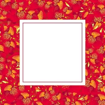 Giglio rosso canna banner card