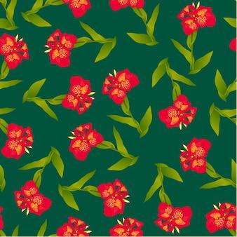 Giglio di canna rosso su fondo verde