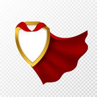 Illustrazione del distintivo del mantello rosso