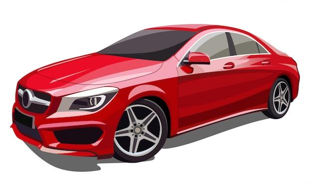 Illustrazione di auto rossa