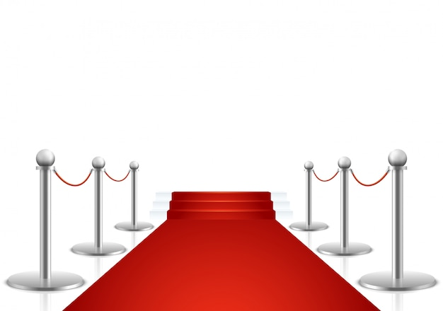 Tappeto rosso con scale