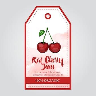 Collezione di marmellata di ciliegie rosse