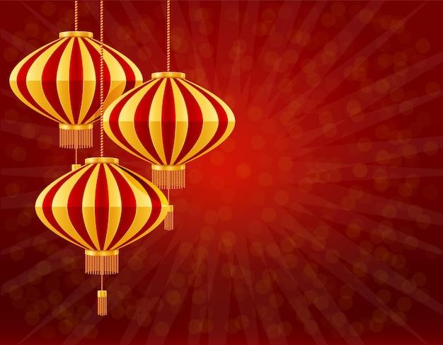 Lanterne cinesi rosse per la decorazione di feste e festival per il design su